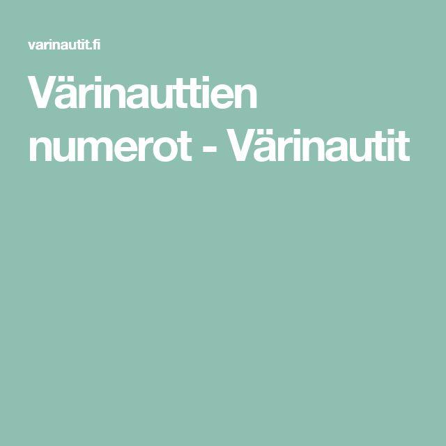 Värinauttien numerot - Värinautit