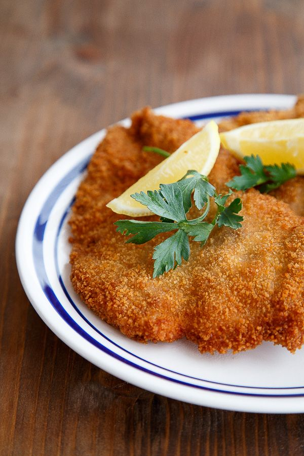 Schnitzel for two, plus a few easy tips on how to fry successfully without excess calories @dessertfortwo