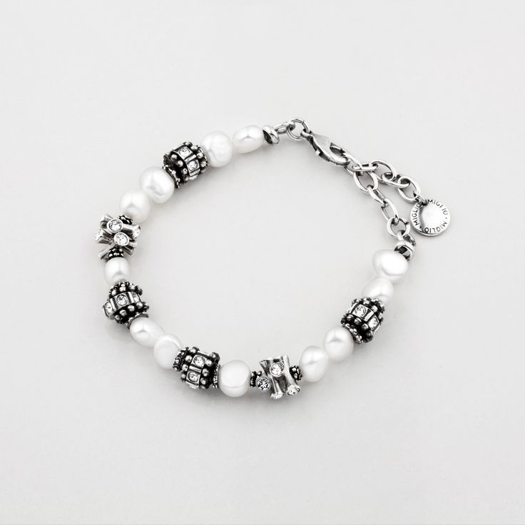 Miglio Designer Jewellery - White Freshwater Pearl Bracelet With Classic Swarovski Crystal Beads, R799.00 (http://shopza.miglio.com/shop-by-product/white-freshwater-pearl-bracelet-with-classic-swarovski-crystal-beads/)