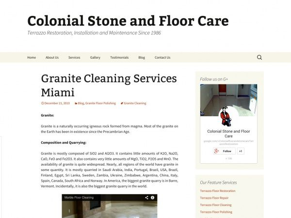 Granite Cleaning Services Miami