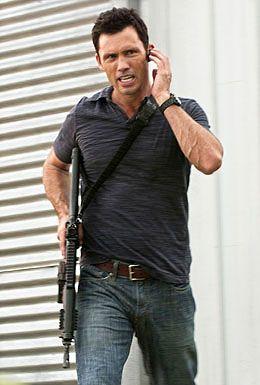 Jeffrey Donovan as Michael Westen from Burn Notice. He gets hotter every single episode!