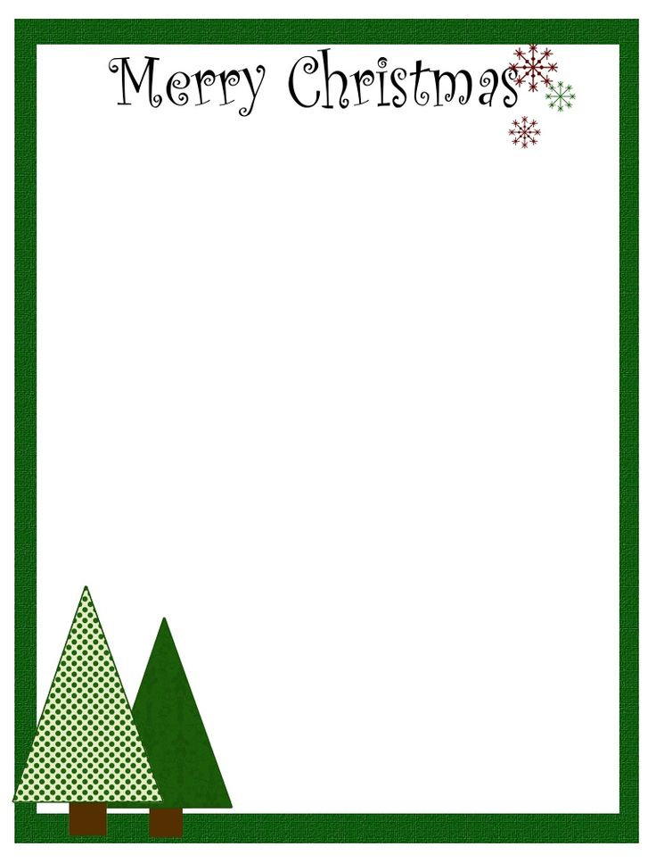 58 best Printable Christmas \/ Winter Paper images on Pinterest - holiday templates for word