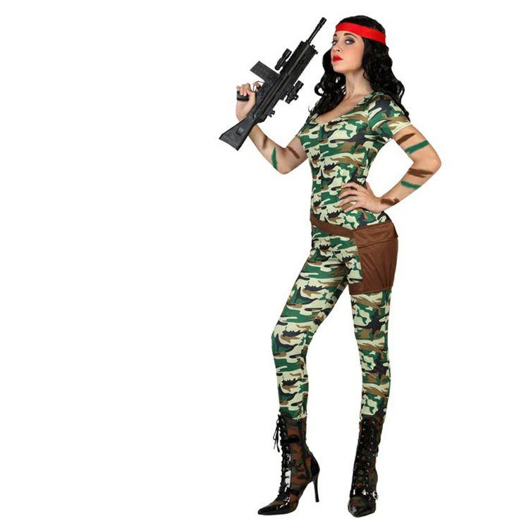 Nadie se resistirá a acatar tus órdenes enfundada en este nuevo disfraz de militar sexy para mujer. Un modelo de soldado señora con toques realmente sexys y disponible en 3 tallas diferentes para que nadie se quede sin el suyo. Ideal para tus fiestas temática de ambiente ejército y soldados así como para espectáculos Carnaval. #disfraces #carnaval