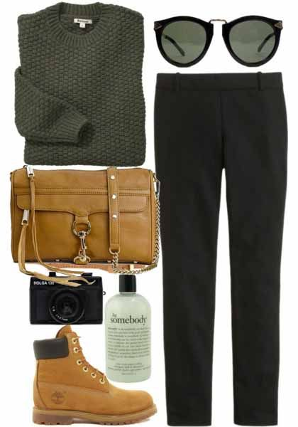 Rebecca Minkoff Bag. Timberland boots for hiking