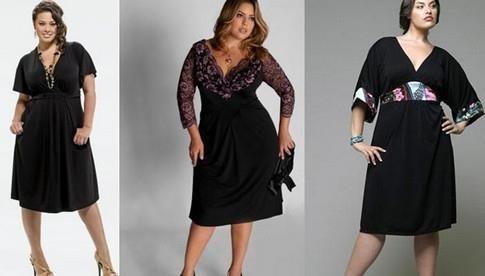 Фото стильных вечерних костюмов и платьев для полных женщин
