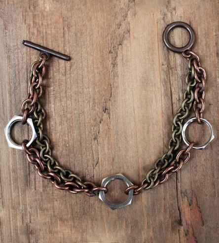 Upcycled Computer Nut Bracelet by Mitsymoto Designs on Scoutmob Shoppe