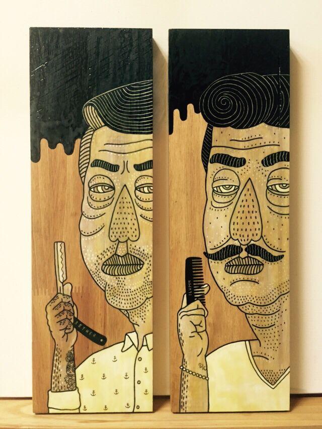 Barbershop 1,2 - illust by CHOPONS