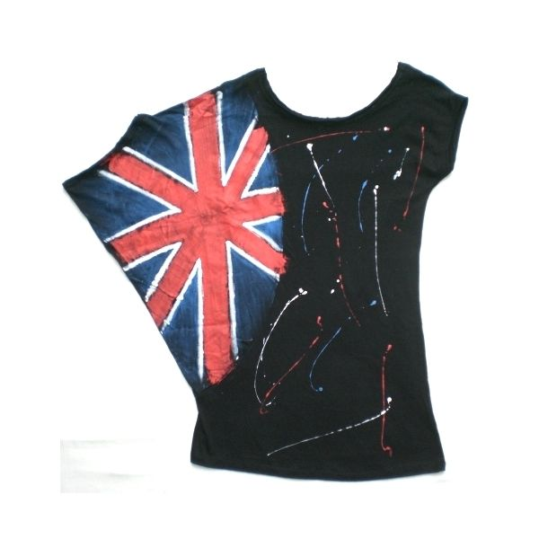 Maglia con bandiera inglese dipinta