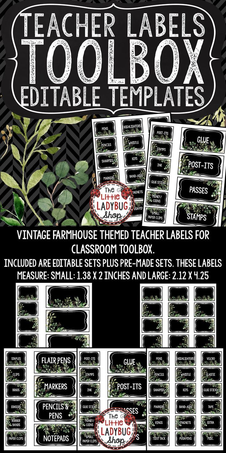 You will Love this Editable Vintage Farmhouse Theme Teacher Toolbox Label Set! This was requested many times to be created to match the Vintage Farmhouse Theme Classroom Décor Sets, I was able to customize it recently! The best part of this set is their are editable sets to customize to meet your classroom needs!