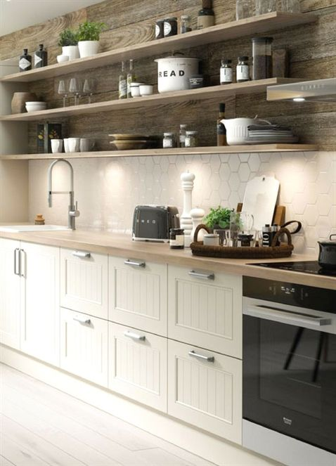 Küche, weiß, skandinavisch, Landhaus, Landhausstil, Landhausküche