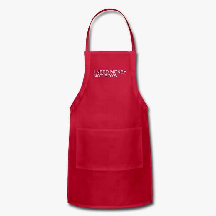 """I Need Money, Not Boys"" – Ashley Fresh Prince of Bel Air - Red Apron - Cooking Style"