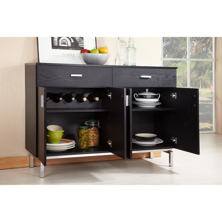 Furniture of America Mason Black Finish Buffet/ Dining Server | Overstock.com Shopping - The Best Deals on Buffets
