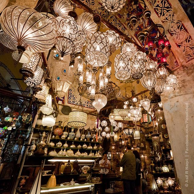 there must be about thousands of hanging lamps at the Grand Bazaar ~ Istanbul, Turkey