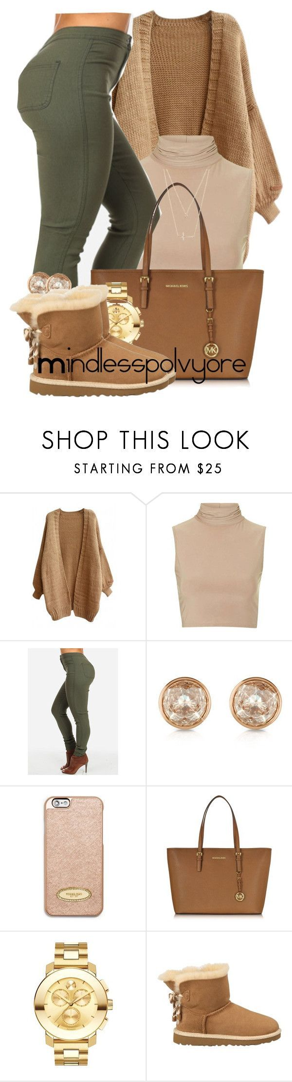 """""""How could you ever cut me loose? na na na"""" by mindlesspolyvore ❤ liked on Polyvore featuring Rare London, Michael Kors, MICHAEL Michael Kors, Movado, UGG Australia and Forever 21"""