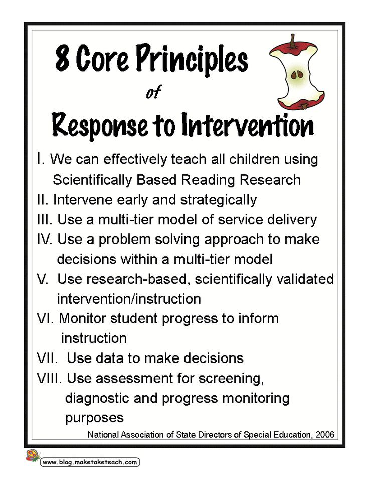 8 Core Principles of Response to Intervention