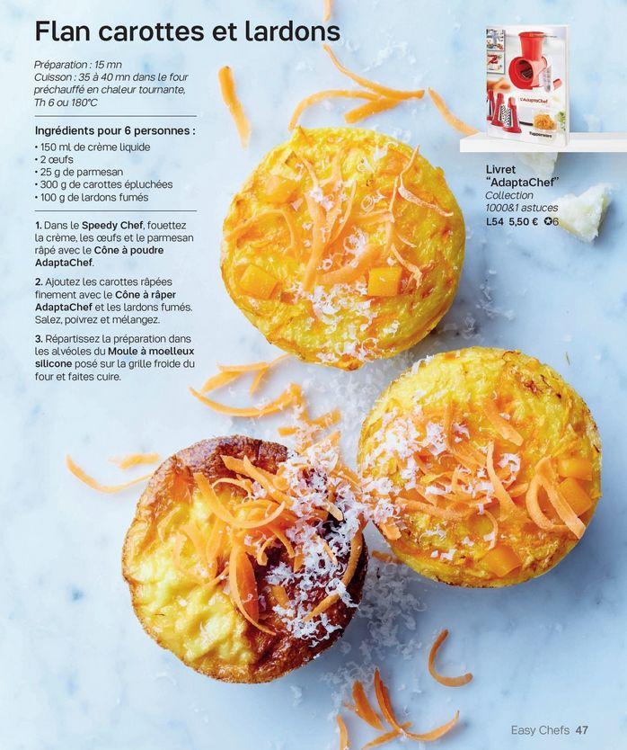 recette flan carottes lardons