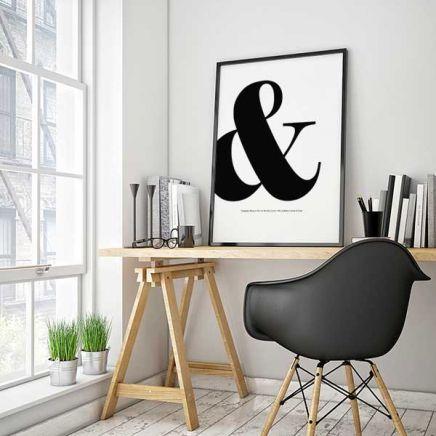 Typographical poster from www.desenio.se / www.desenio.co.uk