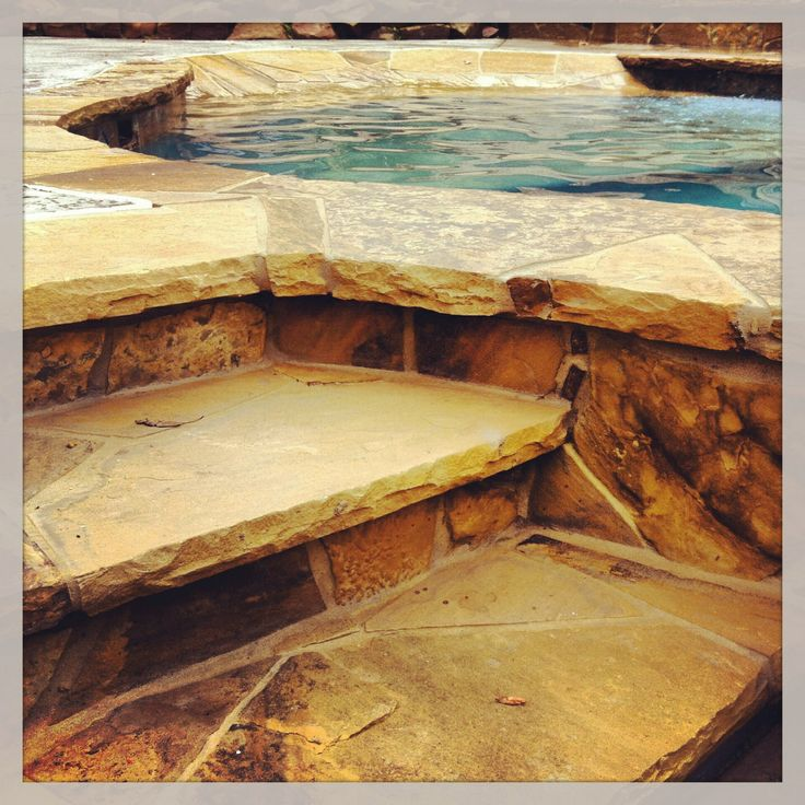 Flagstone Steps And Coping On A Lagoon Style New Swimming Pool By Preferred Pools Www