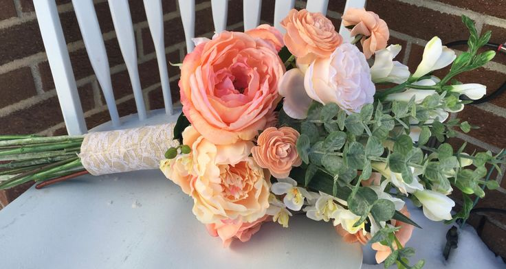 Peach Bouquet by BloomingBouquet on Etsy https://www.etsy.com/listing/266699215/peach-bouquet