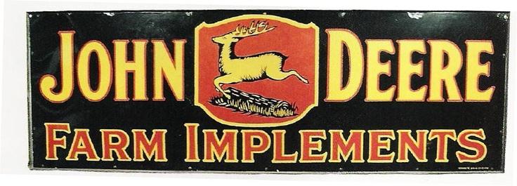 Antique John Deere Porcelain Signs