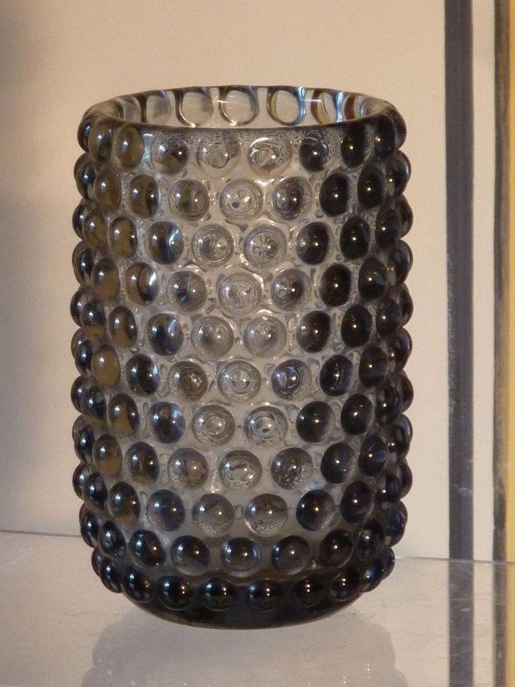 Groß , alte Glas Vase WMF Nuppenglas Noppenglas Jachmann