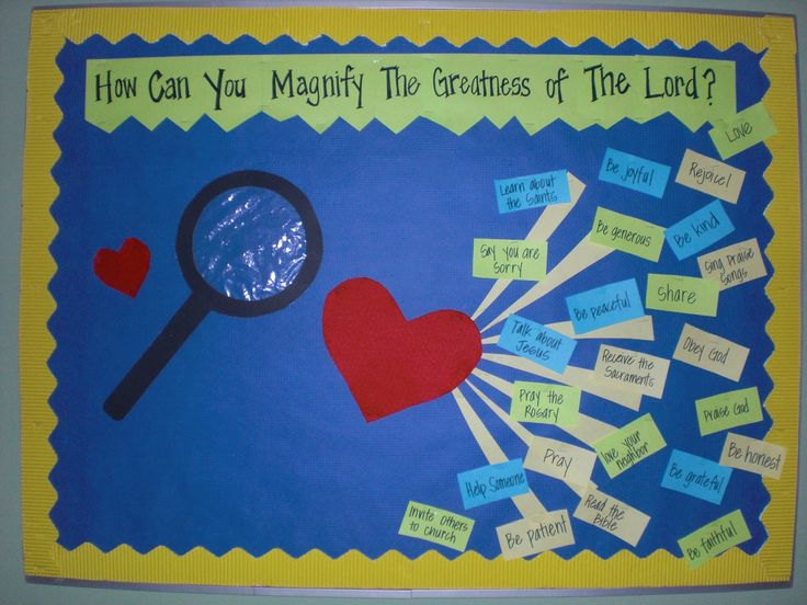 christian bulletin board ideas | Look to Him and be Radiant: My Soul Does Magnify