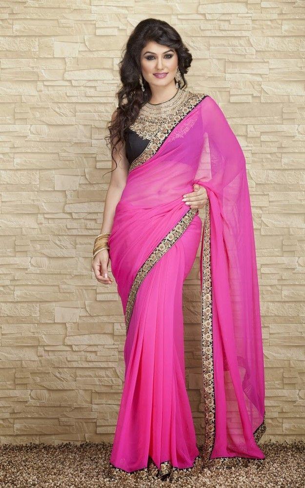 Indian-Designers-Beautiful-Bridal-Wedding-Saree-dress-Design-New-Fashionable-Sari-for-Girls-Women-5