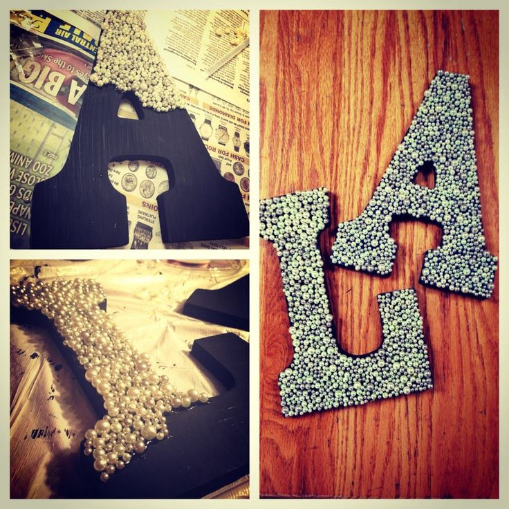 Dorm room decorated letters pearls letters cute ideas room ideas