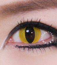 GEO Crazy Yellow Cat Eye Contact Lens - EyeCandy's