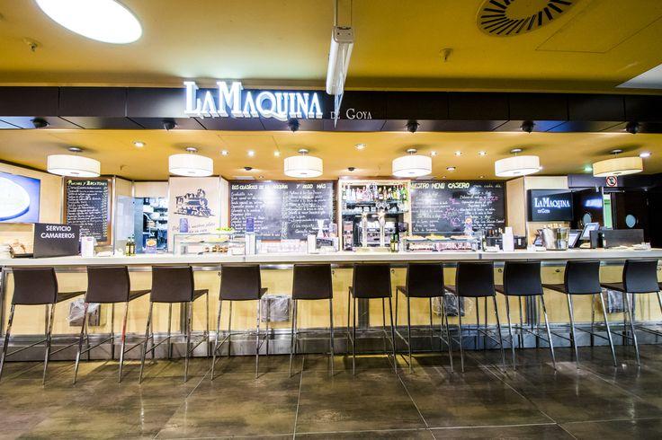 La barra de La Máquina de Goya en El Corte Inglés, la zona Gourmet Experience.