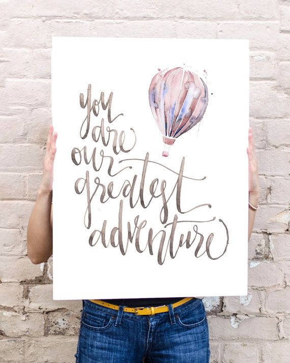 You are Our Greatest Adventure Poster in Pink by WinsomeEasel, $48.00