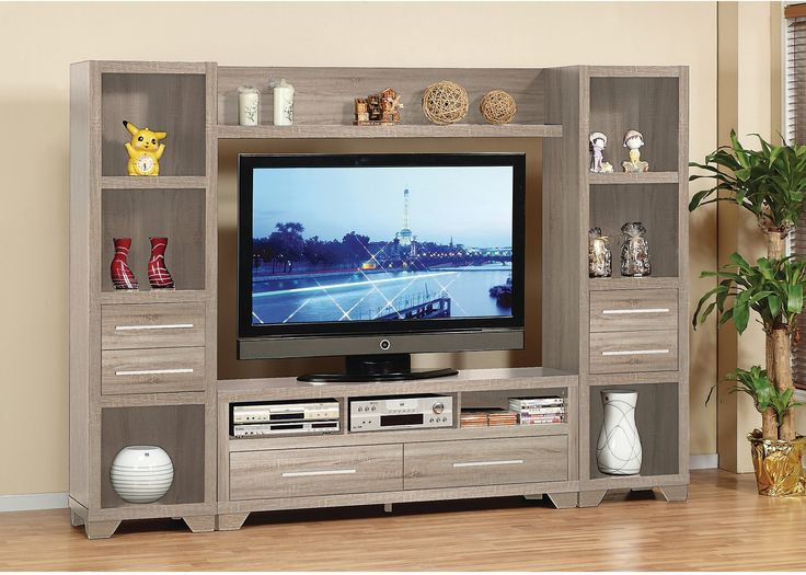 Glendale 4 Piece Entertainment Centre With 60 TV Opening Grey The Brick Entertainment