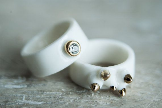These porcelain rings ROCK! This piece of porcelain jewelry must be in your list!