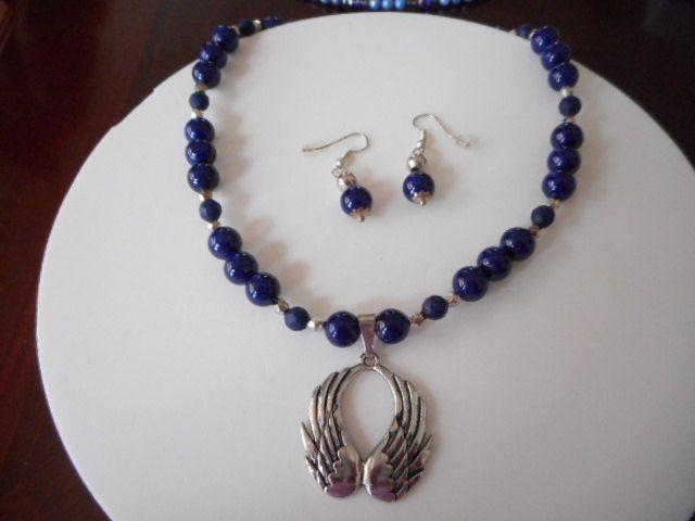 Collar lapislazuli, collar azul, collar para jovenes, collar para mujer, collar…