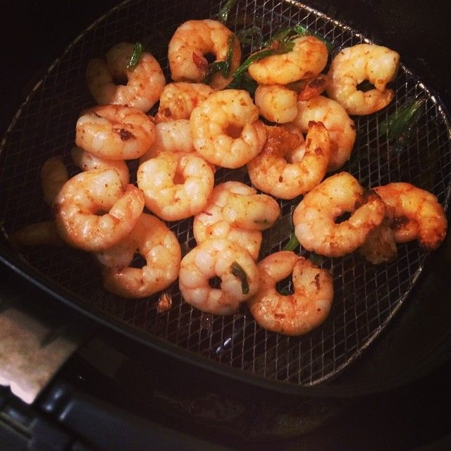 'Prawns with shallots and XO sauce cooked in Philips Airfryer'