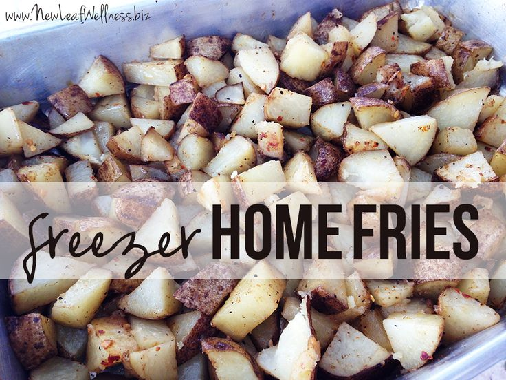 Freezer home fries. Cheap, easy to make, and taste great! (Plus a good way to use up a big bag of potatoes!)