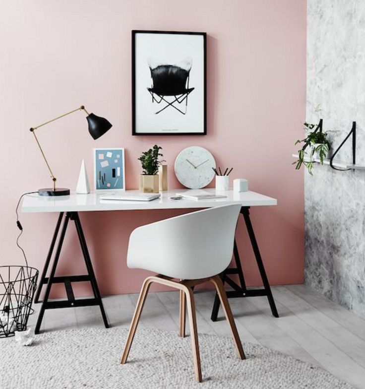 Pink is a tone of red (red with white) and reflects light, so is flattering to the complexion. Consider pink for bedrooms, dressing rooms, and red for social areas like living rooms.