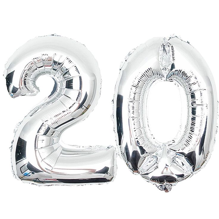 Age 20th 30th 40th 50th 60th 70th 80th 90th 100th Birthday Celebration Party decoration silver mylar number balloons supplies(China (Mainland))