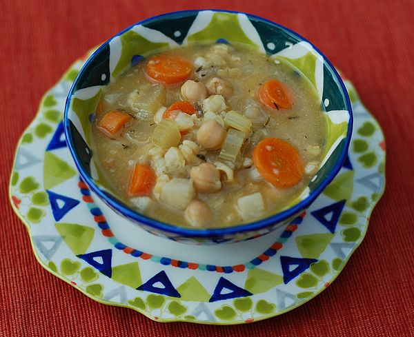 Slow Cooker Get-Well-Quick Chickpea Soup - recipe by Kathy Heste