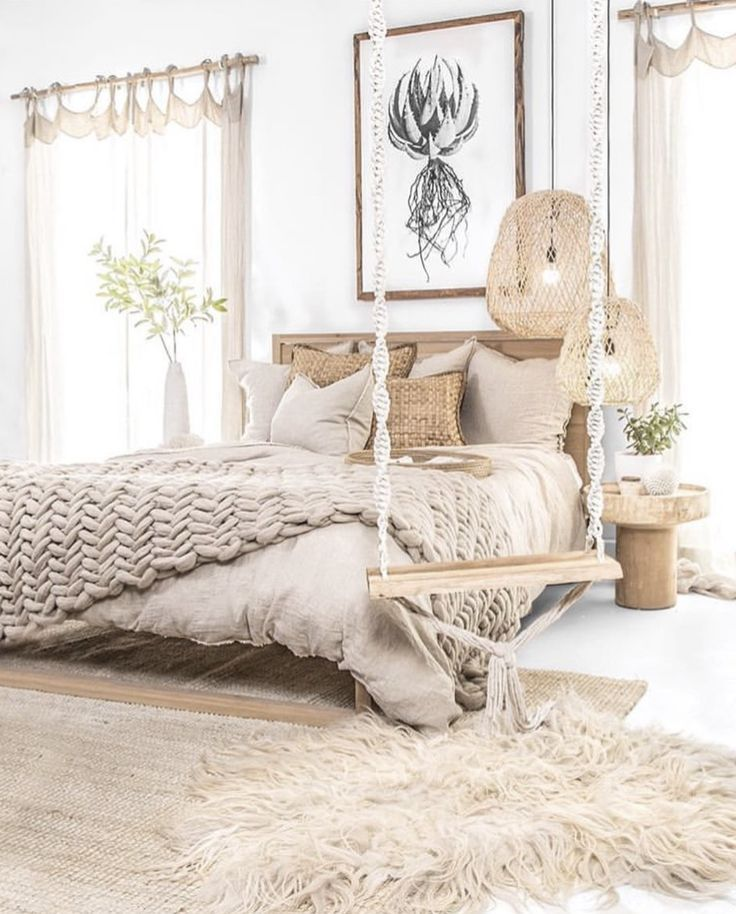 Simple Small Living Room Interiordesign: Natural Bedroom @uniqwacollections In 2020