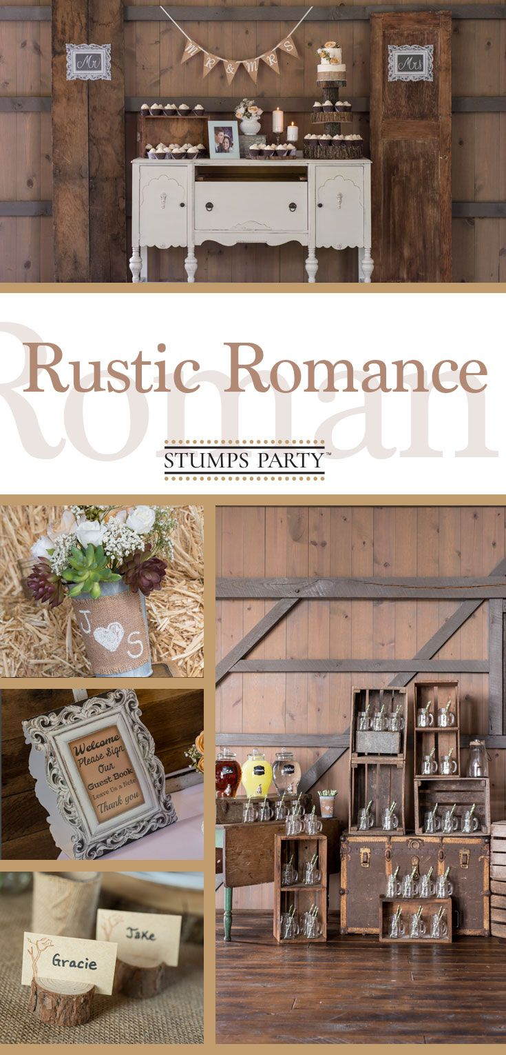 Celebrate the sweet romance of your love with a rustic romance wedding theme at your wedding. Shop all of our rustic wedding party supplies!