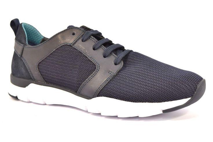 GEOX U722GB 01143 C4002 CALAR TEXT BLU Sneakers Scarpe Uomo Tessuto Estive Pelle