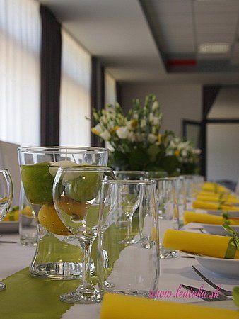 Letná citrusová výzdoba/Summer wedding decoration with lime and lemon