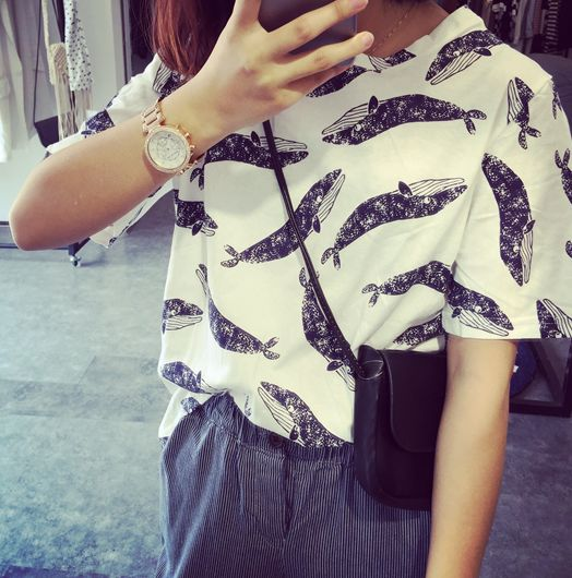 washed out whale T via shopstyleraiders. Click on the image to see more!