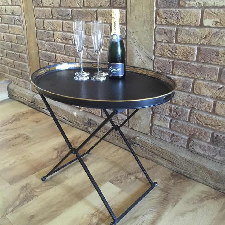 Nice Black Metal Butler Tray Table