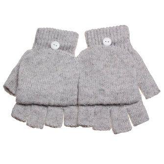 Men Women Knitted Thick Fingerless Gloves Warm Half Finger Flip Mittens at Banggood