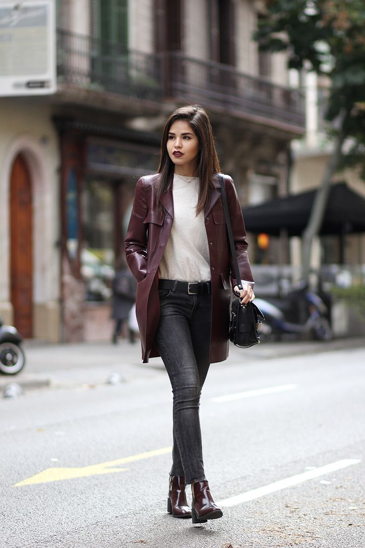 zara-burgundy-faux-leather-coat-washed-out-jeans-booties-proenza-schouler-ps11-casual-ootd
