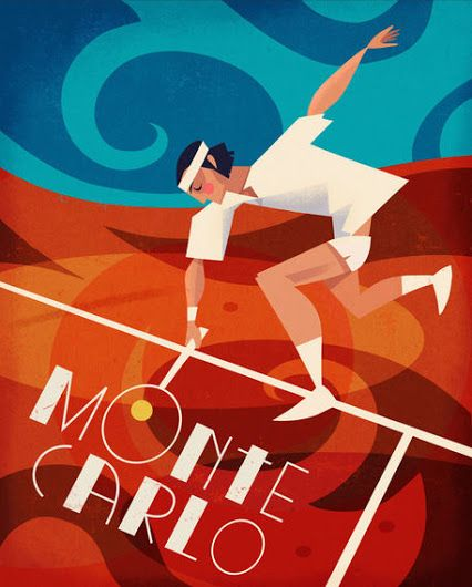 Art Deco Tennis Poster