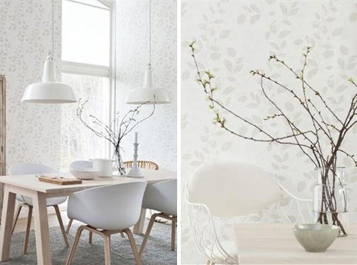 "Every day tapet ""Foliage - barely grey"" fra Borås Tapeter ... http://kvindeguiden.dk/default.asp?thdid=29121"