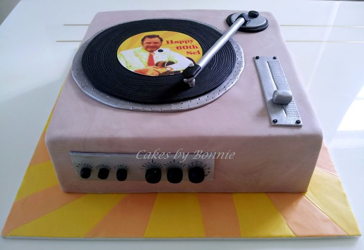 Record Player Cake Cakes By Bonnie Birthday Cakes